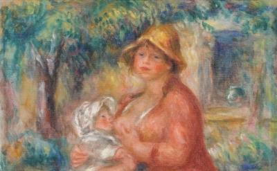 Pierre-Auguste Renoir, Aline Renoir Nursing her Baby, 1915 (Kunstmuseum Bern)
