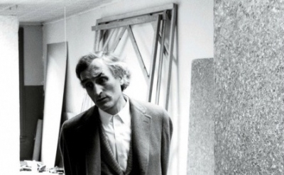 Milton Resnick in his Spruce Street Studio, New York, 1963, Photo: Robert Elliso