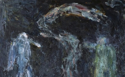 Milton Resnick, A Serpent on the Scene, 1992, oil on canvas 93 * x 104 inches (©