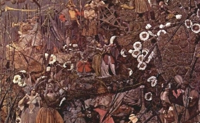 (detail) Richard Dadd, The Fairy Feller's Master Stroke, c. 1855-64