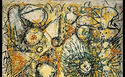 (detail) Richard Pousette-Dart, East River Sun, 1947-1949, Oil on linen, 55 1/2