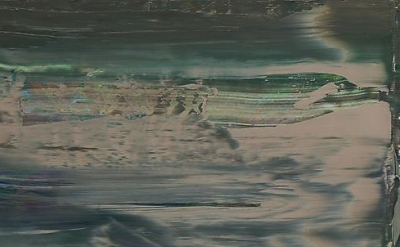 (detail) Gerhard Richter, Abstract Painting (894-11), 2005, 11 3/4 X 17 3/8 IN.