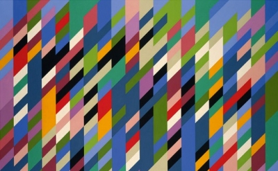Bridget Riley, Debut, 1988, oil on linen, 167,6 x 226,1 cm (courtesy Galerie Max