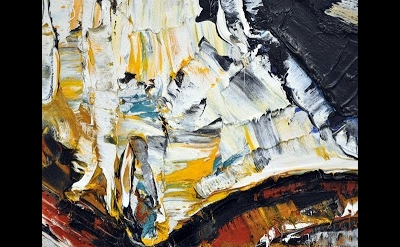 (detail) painting by Jean-Paul Riopelle