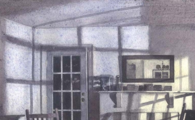 (detail) Charles Ritchie, Shadows and Door, 4 x 6 inches, 2009 (courtesy of the