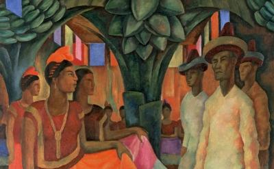 Diego Rivera, 'Dance in Tehuantepec (Baile in Tehuantepec)', 1928, © 2013 Banco