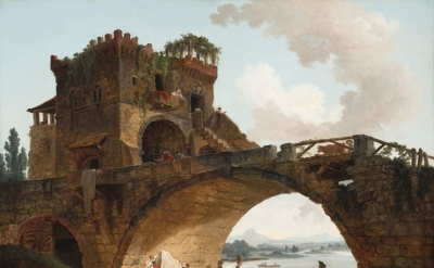 Hubert Robert, The Ponte Salario, c. 1775, oil on canvas (National Gallery of Art, Washington, Samuel H. Kress Collection)