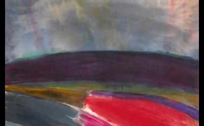 (detail) Ronnie Landfield, Franz Kline in Provincetown, 2010, acrylic on canvas,