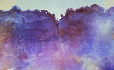 (detail) Ronnie Landfield, Diamond Lake, 1969, Acrylic on canvas, 108 x 168 inch
