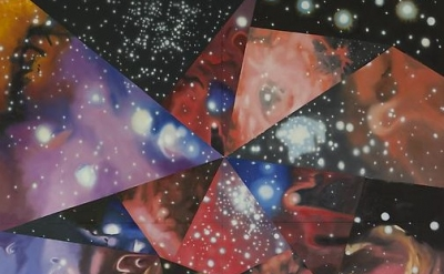 (detail) ames Rosenquist, Multiverse You Are, I Am, 2012, oil on canvas, 132 x 1