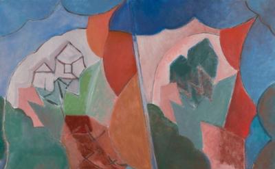 (detail) Deborah Rosenthal, Doubled Landscape (Familiar Sights), 2011, oil on li