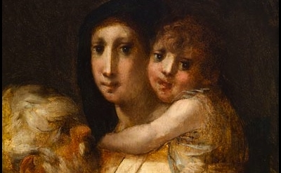(detail) Rosso Fiorentino, Holy Family with the Young Saint John the Baptist, ca