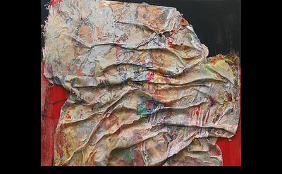 (detail) Susan Roth, Yoga Sutra, 2002, acrylic and acrylic skin on canvas, 71 x
