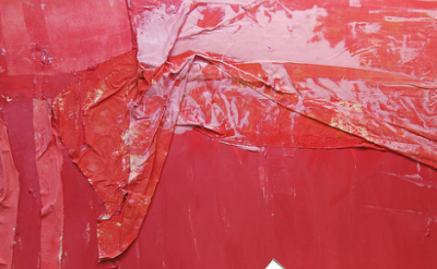 (detail) Susan Roth, Heart Murmurings, 1984, acrylic and canvas on canvas, 67 x