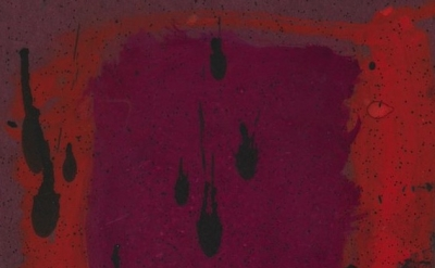 (detail) Mark Rothko, Untitled (Study for Harvard Mural) (verso), c. 1961, opaqu
