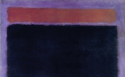 (detail) Mark Rothko, Untitled (Rust, Blacks on Plum), 1962, oil on canvas, 60 x 57 inches (Private Collection, Santa Monica © 1998 Kate Rothko Prizel & Christopher Rothko / Artists Rights Society (ARS), NY, Photo courtesy of The Mark Rothko Foundation)