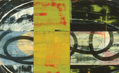 (detail) David Row, Wind Cools Itself, 1996, oil on canvas, 90 x 144 inches (cou