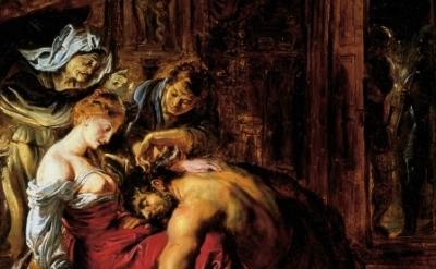 (detail) Samson and Delilah, Peter Paul Rubens, Probably 1609, Oil on panel, 52.