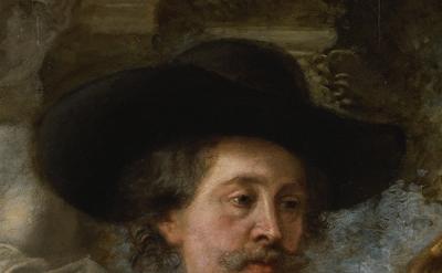(detail) Rubens, His Wife Hélène Fourment, and Their Son Frans ca. 1635, oil on