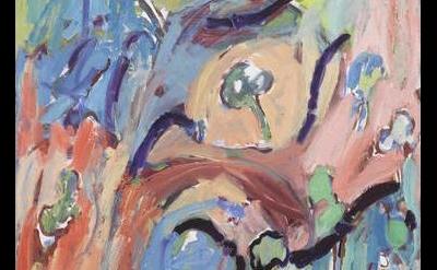 (detail) painting by Adrianne Rubenstein (courtesy of White Columns)