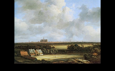 Jacob van Ruisdael, View of Haarlem with Bleaching Grounds, ca. 1670-75, oil on