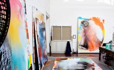 (detail) Jackie Saccoccio, Studio view, Rome (courtesy the artist)