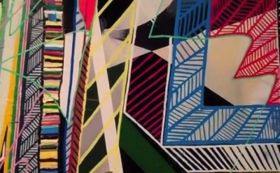 Eric Sall, painting detail (courtesy of the artist, screen capture from Gorky's