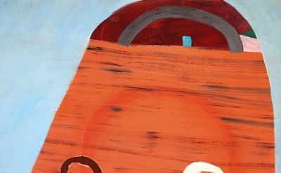 (detail) Sara Bright, Arches, 2011, oil on linen on panel, 48 x 54 inches (court