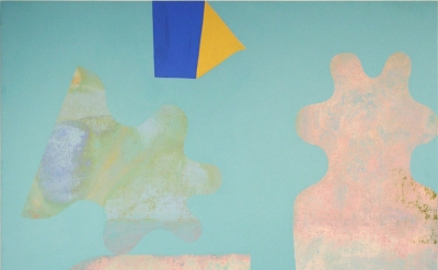 Patricia Satterlee, Already Gone 01, 2014, Flashe on linen panel, 60 x 60 inches (courtesy of the artist)