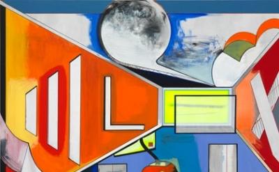 (detail) Thomas Scheibitz, Studio, 2012, 270 x 380 cm, 2012 (photograph: Jens Zi