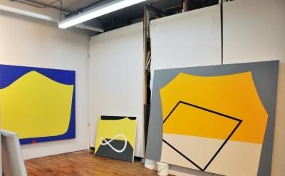 Karen Schifano, Studio view (photo: Paul Behnke)