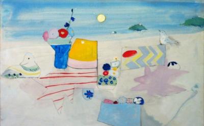 Edith Schloss, Untitled, 1973, oil on canvas, 31 5⁄8 x 35 5⁄8 inches (courtesy o