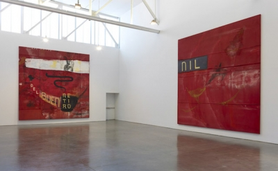 Julian Schnabel, Installation View: Dawn in the Tropics: Paintings 1989-1990 (©