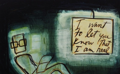 Mira Schor, I want to let you know that I am real, 2013 (courtesy of the artist