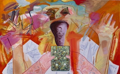 Dana Schutz, Licking a Brick (courtesy of the artist)