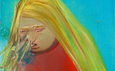 (detail) Dana Schutz, Sneeze, 200, oil on canvas, 19 x 19 inches (courtesy of the artist and Petzel Gallery)