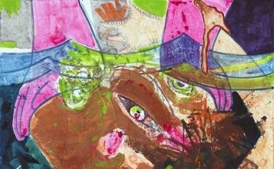 (detail) Dana Schutz, Drowning, 2011, 46 x 60 inches (courtesy Two Palms, New Yo