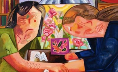 (detail) Dana Schutz, Small Apartment 2012 Oil on canvas 57 x 83 inches (courtes