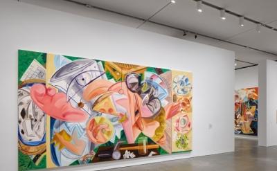 Installation view, Dana Schutz at The Institute of Contemporary Art/Boston, 2017 (photo by Charles Mayer Photographer © Dana Schutz)