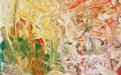(detail) Julia Schwartz, studio view, 2012, oil on linen, 10x8 inches (courtesy