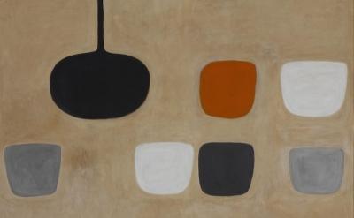 (detail) William Scott, Still Life with Orange Note, 1970 (collection Ulster Mus
