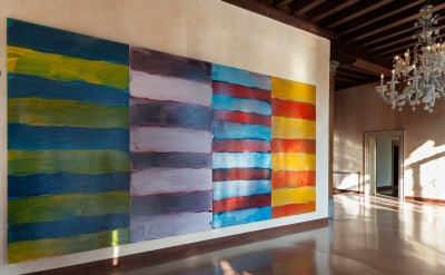 Sean Scully, The Gatherer, 2014 installed at Santa Cecília Monastery, Montserrat