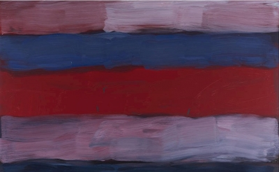 Sean Scully, Landline Red Veined, 2016, oil on aluminium (courtesy of Timothy Taylor Gallery)