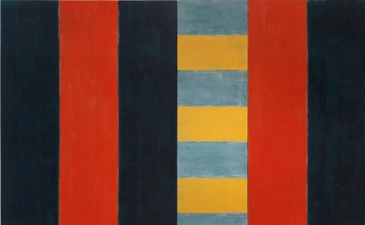 Sean Scully, Stranger, 1987, oil on linen, 96 x 124 inches (courtesy of Mnuchin Gallery, New York, © Sean Scully, Photograph: Foto Gasull)