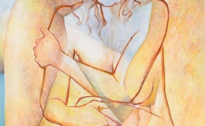 (detail) Joan Semmel, Double Embrace, 2016, oil on canvas, 72 x 68 inches (courtesy of Alexander Gray Associates)
