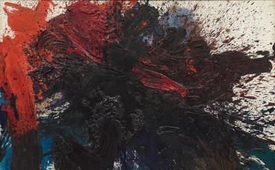 Kazuo Shiraga, Chikusei Shohao, 1961 (courtesy of Mnuchin Gallery)
