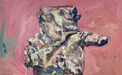 (detail) Eugen Schönebeck, Ginster, 1963, oil on canvas, 63 3/4 x 50 3/4 inches