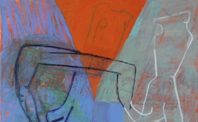 (detail) Amy Sillman, Ich Auch, 2009, oil on canvas, 90.55 x 84.65 inches (© Amy