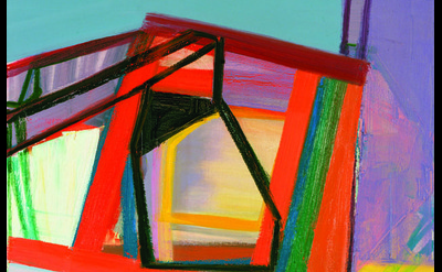 (detail) Amy Sillman, C, 2007, oil on canvas, 45 x 39 inches (collection of Gary