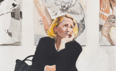 (detail) Nolan Simon, Women's Day, 2014, oil on canvas, 42 x 28 inches (courtesy